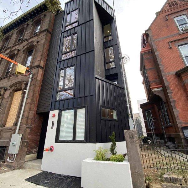 New construction apartment building in Philadelphia